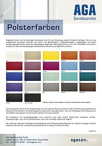AGA Polsterfarben