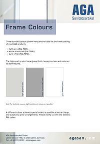 AGA frame colours