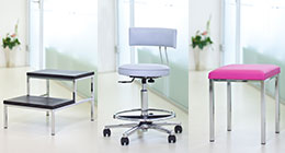 AGA (Swivel) stools and chairs, step stools, infusion holders