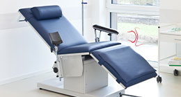 Transfusion and blood collection chairs